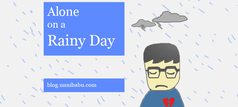 alone on a rainy day poem