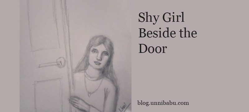 shy girl drawing