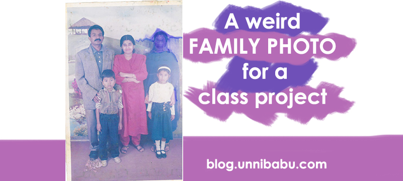 A weird family photo for a class project | A real life short story