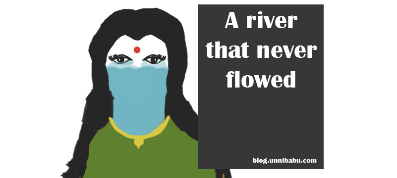 the river that never flowed is about domestic violence and abuse, surreal woman art