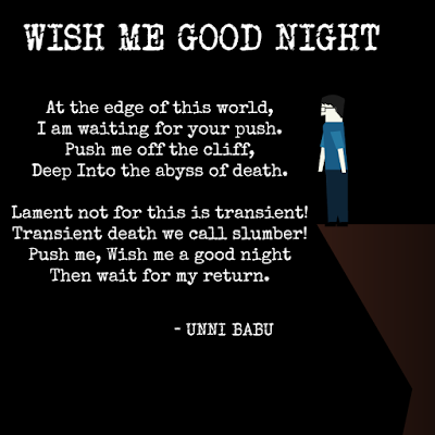 wish me good night poem by unni babu